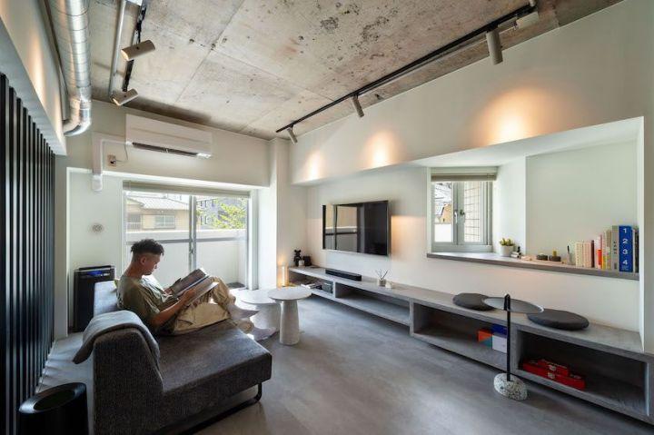 vol.45【リノベ インタビュー】「ブティックホテル」な自宅が完成。62m2台を広く見せる、ルーバー使い